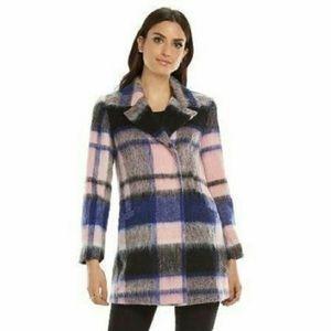 ELLE Plaid Coat